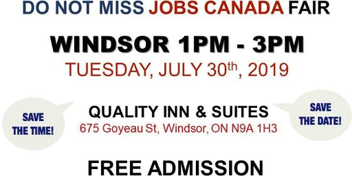 Windsor Job Fair – July 30th, 2019