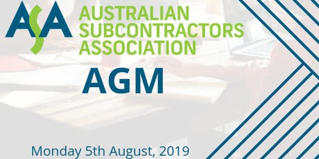 AGM - Australian Subcontractors Association tickets