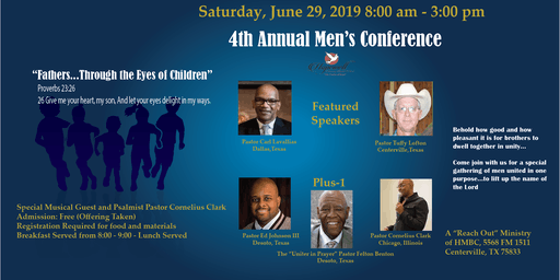 """Fathers...Through the Eyes of Children"" Men's Conference"