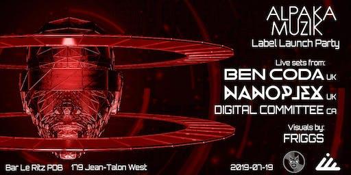 AlpaKa MuziK Label Launch Party // Ben Coda [UK] & Nanoplex [UK]