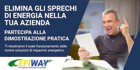 Dimostrazione Pratica  Risparmio Energetico per le Aziende biglietti
