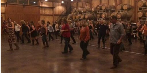 Line Dancing Lessons at the Winery