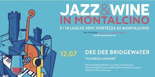 "Prenotazione Jazz & Wine in Montalcino 2019 - Dee Dee Bridgewater ""J'ai deux amours"""