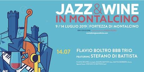 Prenotazione Jazz & Wine in Montalcino 2019 - Flavio Boltro BBB Trio ft. Stefano Di Battista biglietti