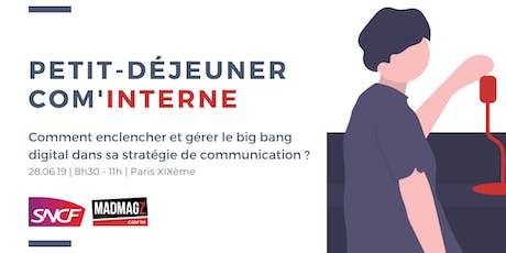 Petit-déjeuner Com'in par la SNCF : la stratégie de communication digitale billets
