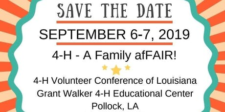 LA 4-H VLA 2019 Conference tickets