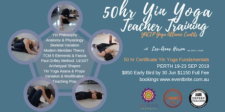 50hr Yin Yoga Fundamentals Certificate Training PERTH 19-23 SEP 2019 tickets
