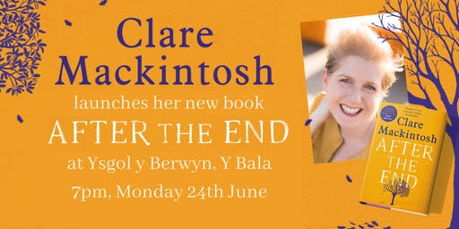 Clare Mackintosh launches her new novel AFTER THE END