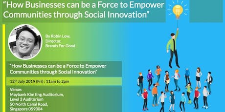 Empowering Communities through Social Innovation | Brands for Good 2019 tickets