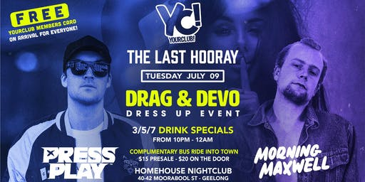YC presents The Last Hooray - Drag & Devo