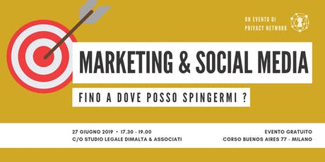 MARKETING & SOCIAL MEDIA: FINO A DOVE POSSO SPINGERMI? biglietti