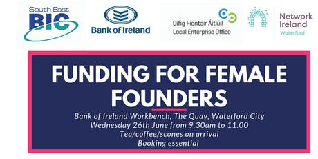 FUNDING FOR FEMALE FOUNDERS tickets