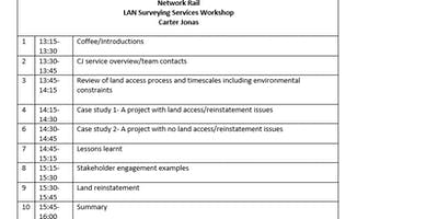 Surveying Services Workshop