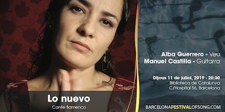 Lo Nuevo: cante flamenco entradas