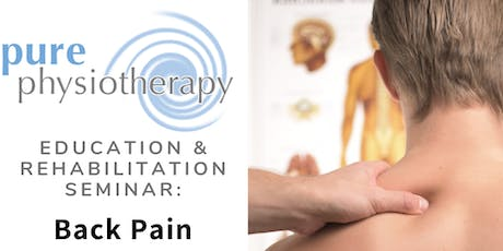 Education and Rehabilitation Seminar: Back Pain tickets