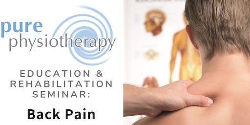 Education and Rehabilitation Seminar: Back Pain