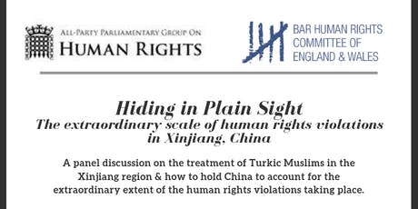 Hiding in Plain Sight:  The Extraordinary Scale of Human Rights Violations in Xinjiang, China tickets