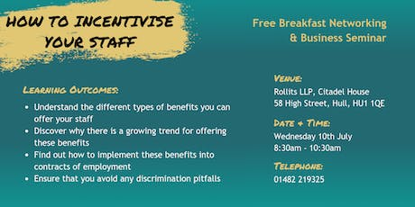 How To Incentivise Your Staff - Employee Benefits Seminar tickets
