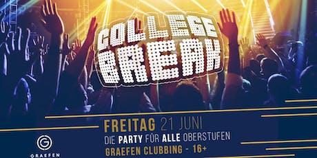 COLLEGE BREAK - Die Party für alle Schüler und Studenten | 16+ Tickets