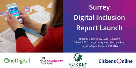 Surrey Digital Inclusion Report Launch tickets