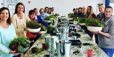 large succulent bowl workshop