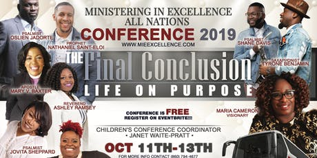Ministering in Excellence All Nations Conference  tickets