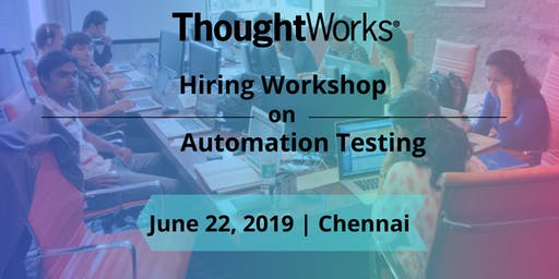 Hiring Workshop on  Automation Testing