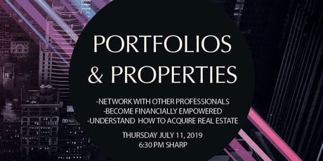 Portfolios & Properties - Finance & Real Estate Education - CT  tickets