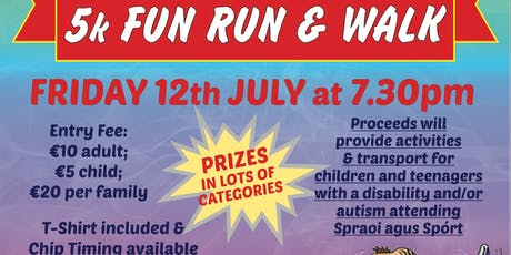 SPRAOI AGUS SPÓRT 5KM FUN RUN AND WALK 2019 tickets