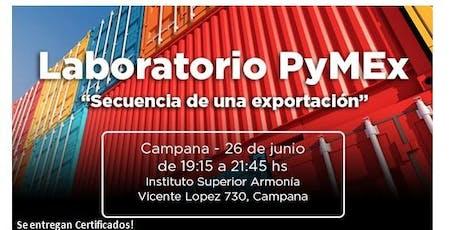 Laboratorio PyMEx - Secuencia de una exportación entradas