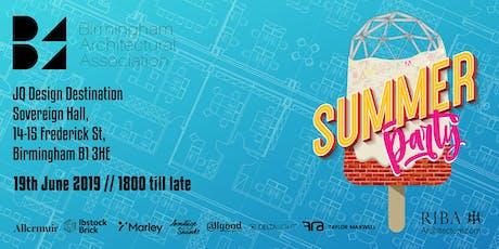Birmingham Architectural Association Summer Party tickets