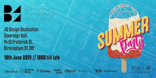Birmingham Architectural Association Summer Party