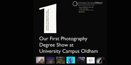 Degree Show Private View University Campus Oldham tickets