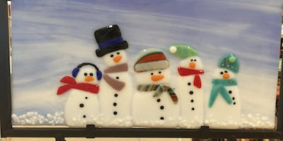 Snowman Family Fused Glass Class