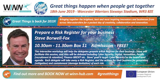 Prepare a Risk Register for your business; Steve Borwell - Fox