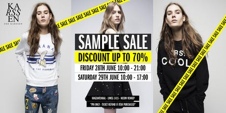 Zoe Karssen Stock & Sample Sale tickets