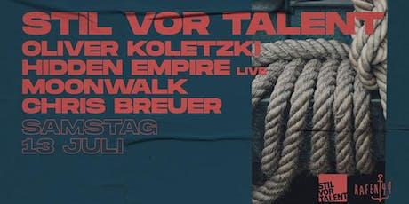 Stil vor Talent: Oliver Koletzki uvm. am Hafen 49 Tickets