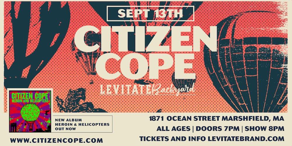Citizen Cope @ Levitate Backyard - Friday, 9 13