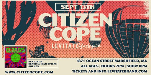 Citizen Cope @ Levitate Backyard - Friday, 9.13