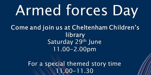Cheltenham Children's Library - Armed Forces Day