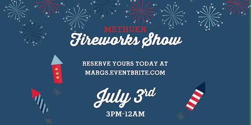 Methuen Fireworks at Margaritas!