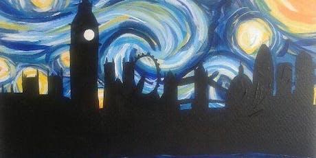 Paint Starry Night over London + Wine! London Bridge, Thursday 8 August tickets