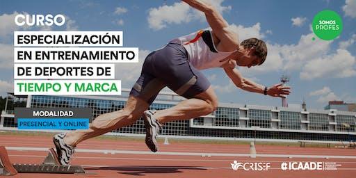 Charla Informativa Curso de Especializacion en Deportes de Tiempo y Marca