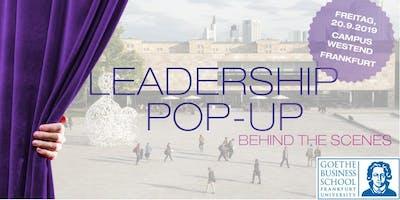 Leadership Pop-up - Behind the Scenes