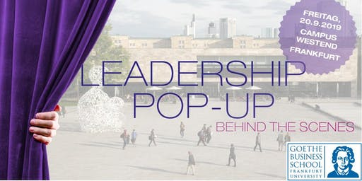 Leadership Pop-up - Behind the Scenes