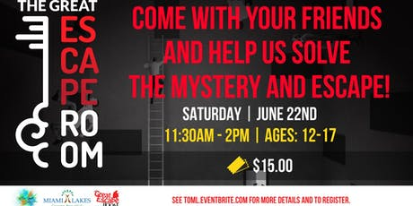 Escape Room Field Trip- Youth Center  tickets