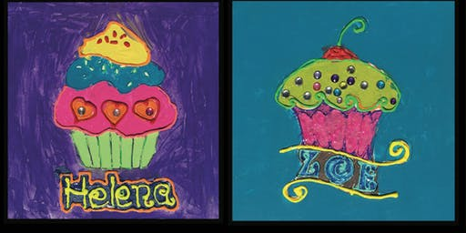 """Paint Night for Kids: """"Cupcake Party"""""""