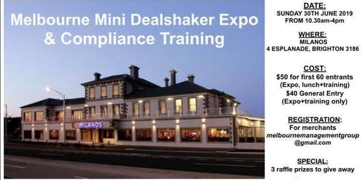 Melbourne Dealshaker Mini Expo & Compliance Training