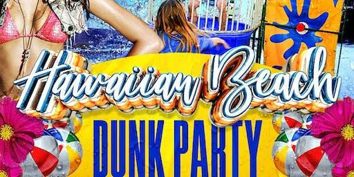 Hawaian beach dunk party