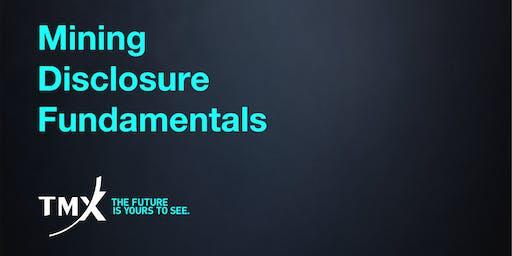 Mining Disclosure Fundamentals - Vancouver